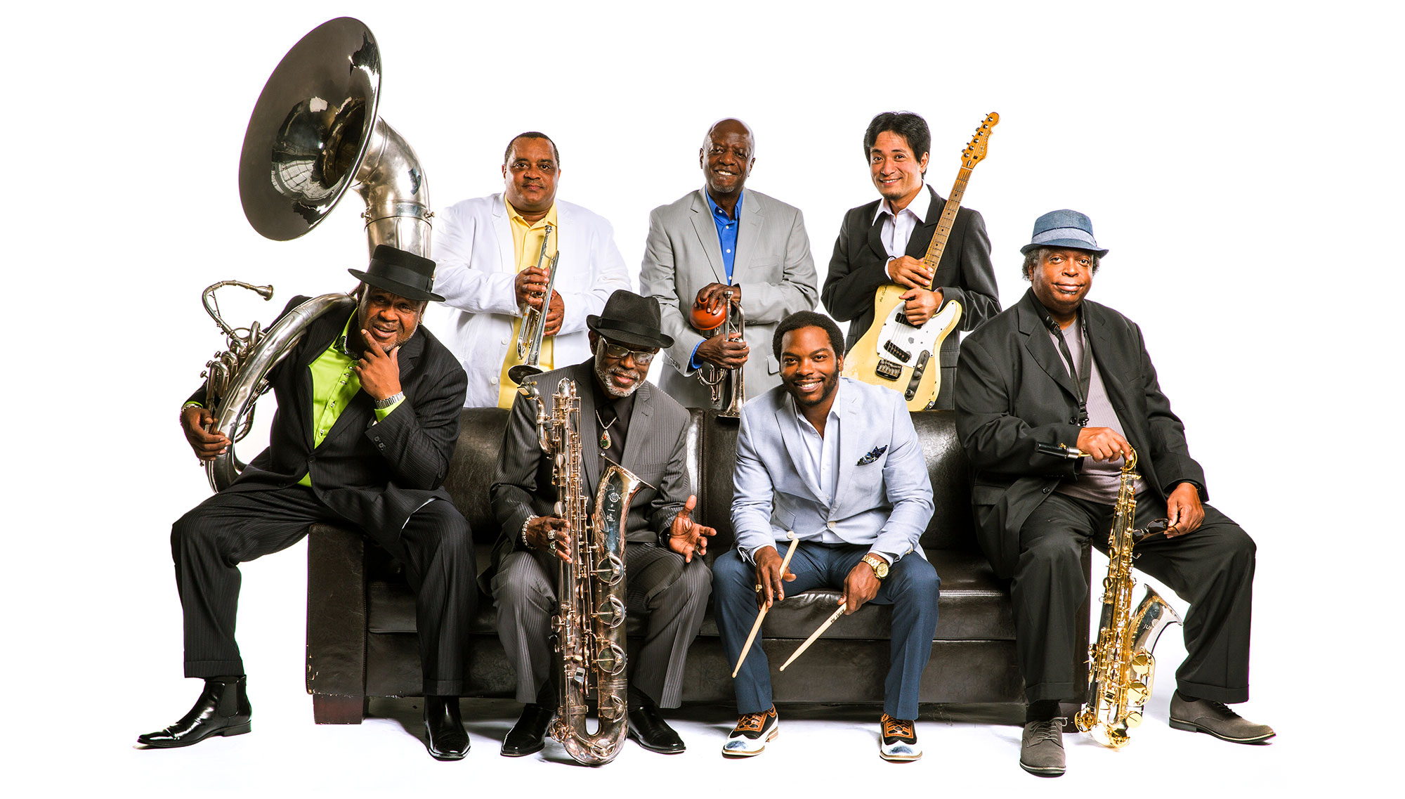 DIRTY DOZEN BRASS BAND  <h6>w/ Fat City Band  </h6><H5>February 25</h5>